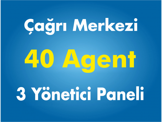 40 Agent Çağrı Merkezi