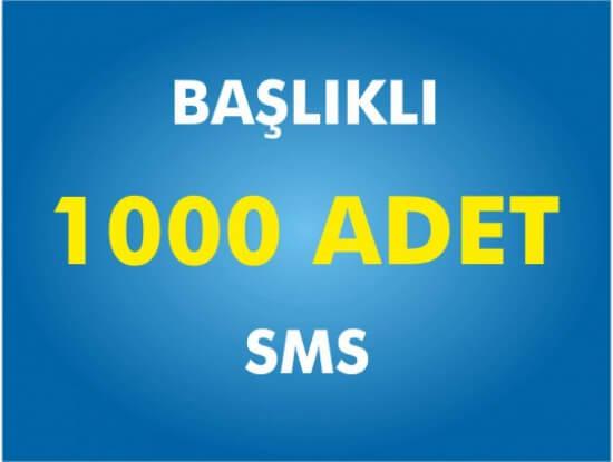 1000 Toplu SMS Başlıklı