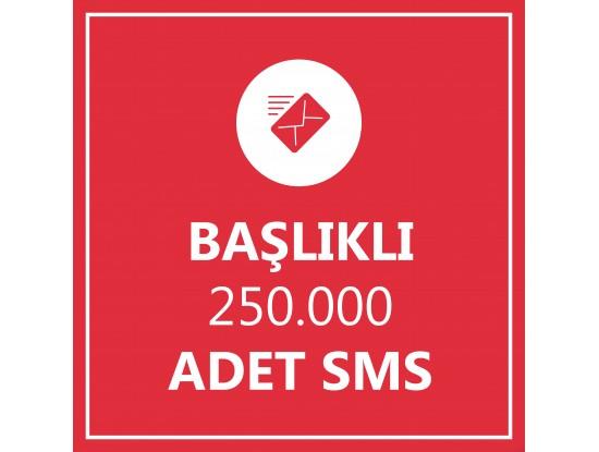 250000 Toplu SMS Başlıklı