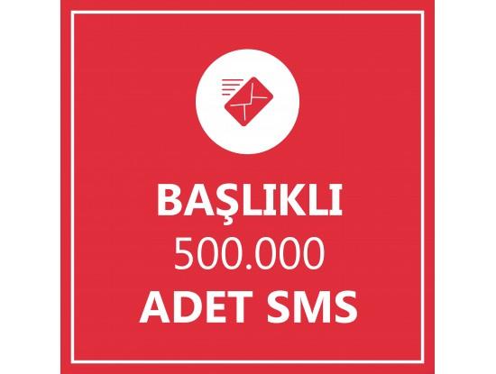 500000 Toplu SMS Başlıklı