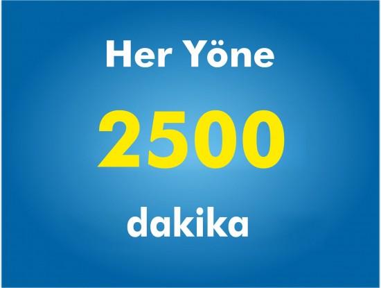 Yurtiçi Her Yöne 2500 Dakika Paketi