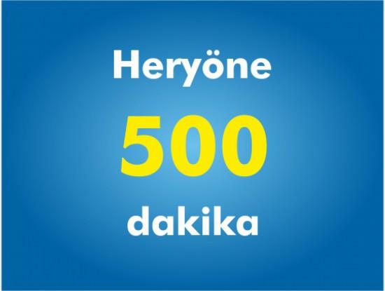 Yurtiçi Her Yöne 500 Dakika Paketi