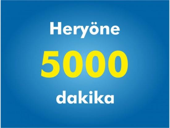 Yurtiçi Her Yöne 5000 Dakika