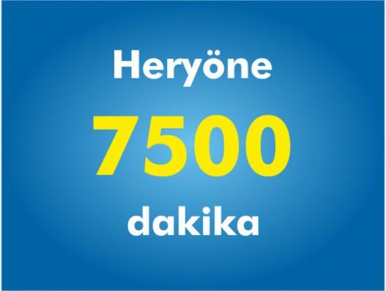 Yurtiçi Her Yöne 7500 Dakika Paketi