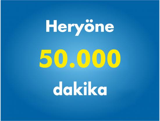 Yurtiçi Her Yöne 50000 Dakika