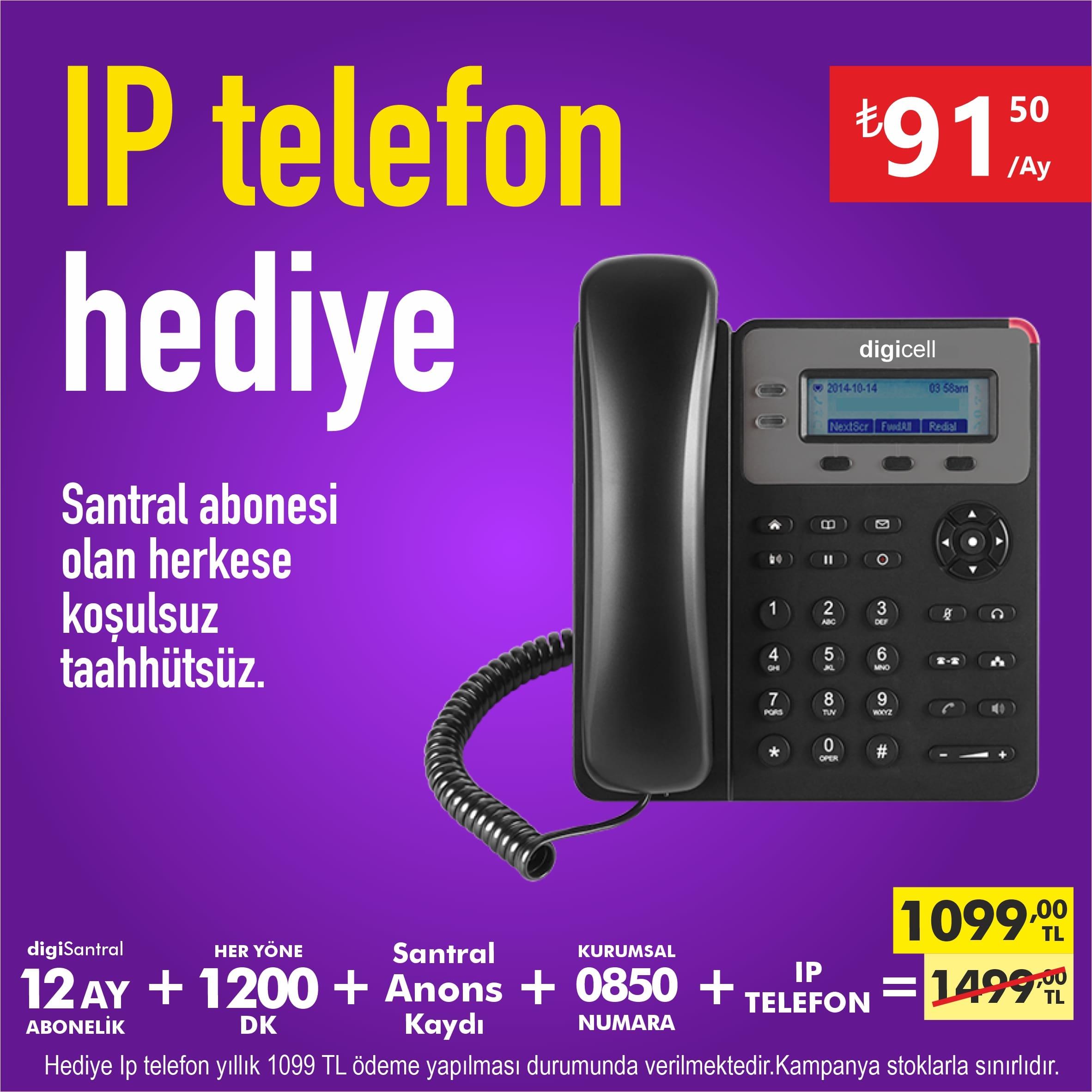 IP Telefon hediye sanal santral kampanyası