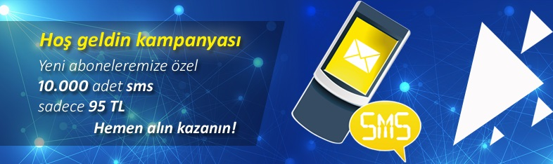 10.000 TOPLU SMS 95 TL